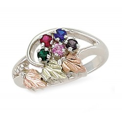Landstrom's® Black Hills Gold on Sterling Silver Birthstone Ring 2-6 Stones