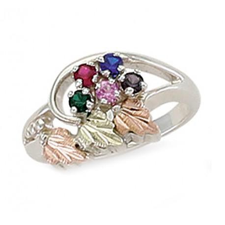 Landstrom's® Black Hills Gold on Sterling Silver Birthstone Ring 2-6 Stones