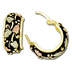 Black Hills Gold Antiqued Earrings