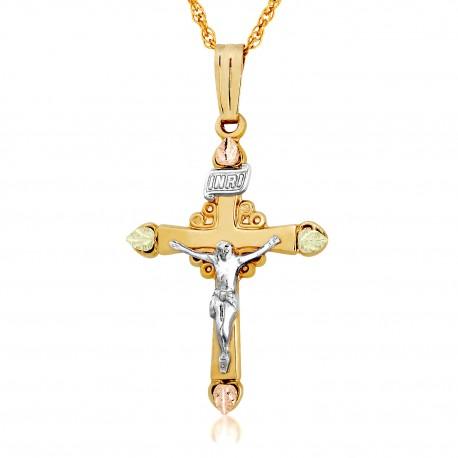 Landstrom's 10K Black Hills Gold Crucifix Pendant