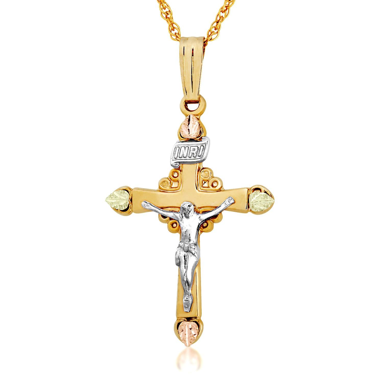 Landstroms Black Hills Gold Crucifix Pendant BlackHillsGold