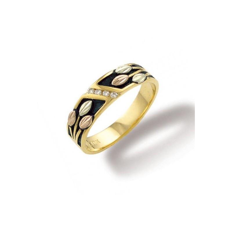 Landstrom's® 10k Black Hills Gold Mens Antiqued Wedding