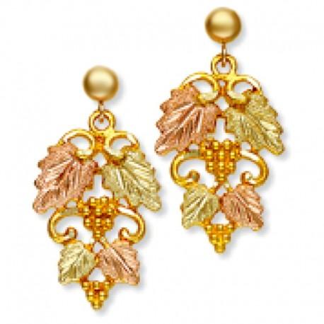Landstrom's® 10K Black Hills Gold Leaves Earrings with Grape