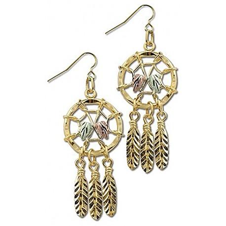 Landstrom's® 10K Black Hills Gold Dreamcatcher Dangle Earrings