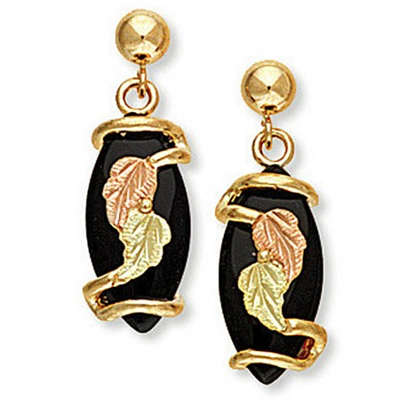 Landstrom's® 10K Black Hills Gold Onyx Earrings