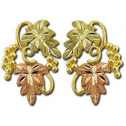 Landstrom's® 10K Black Hills Gold Post Earrings with Grapes