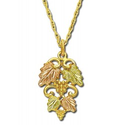 Landstrom's® 10K Black Hills Gold Pendant Detailed with Leaves and Grapes