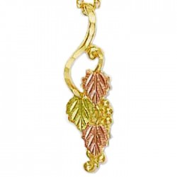 Landstrom's® 10K Black Hills Gold Pendant with 12K Gold Leaves