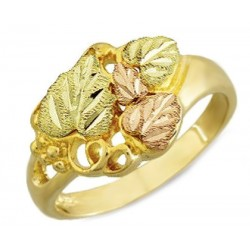 Landstrom's® Ladies Ring with Black Hills Gold Leaves and Grapes
