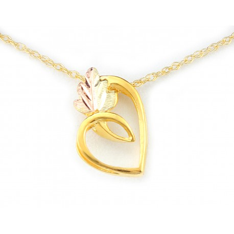 Landstrom's® 10K Black Hills Gold Heart Pendant Necklace