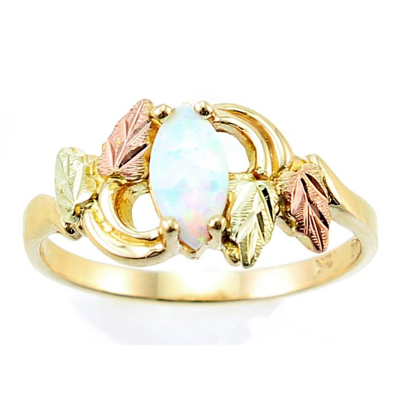 Landstrom S 174 10k Black Hills Gold Opal Ring
