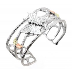 Landstrom's® Black Hills Gold on Sterling Silver Butterfly Cuff Bracelet