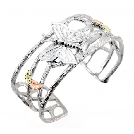 Landstrom's® Black Hills Gold on Sterling Silver Butterfly Cuff Bracelet