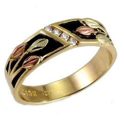 10K BLACK HILLS GOLD MENS ANTIQUED RING