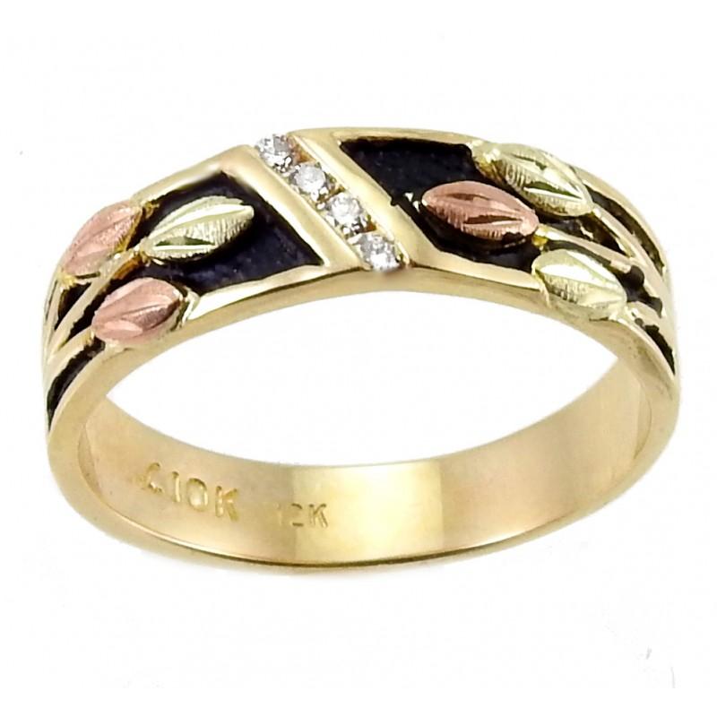 Landstrom S 174 Women S 10k Black Hills Gold Antiqued Wedding