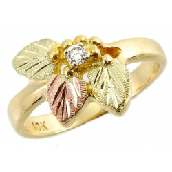 BLACK HILLS GOLD LADIES .05TW DIAMOND RING