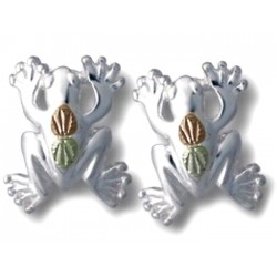 Landstrom's® Black Hills Gold on Sterling Silver Frog Earrings