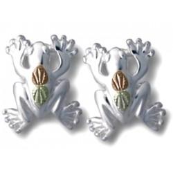 Landstrom's® Black Hills Gold on Sterling Silver Frog Earrings
