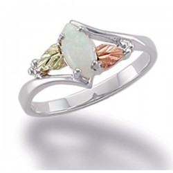 Landstrom's® Black Hills Gold on Sterling Silver Opal Ring Size 9
