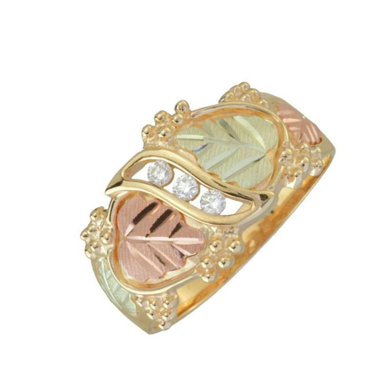 Black Hills Gold .09tw Diamond Wedding Ring For Men