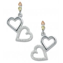 Landstrom's® Black Hills Gold on Sterling Silver Dangle Heart Earrings