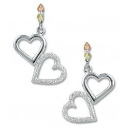Landstrom's® Black Hills Gold on Sterling Silver Dangle Heart Earrings