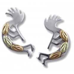 Landstrom's® Black Hills Gold on Sterling Silver Kokopelli Earrings