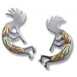 Landstrom's® Black Hills Gold on Sterling Silver Kokopelli Earrings
