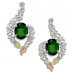 Landstrom's® Black Hills Gold on Sterling Silver Emerald Earrings