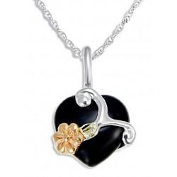 Landstrom's® Black Hills Gold on Sterling Silver Onyx Pendant