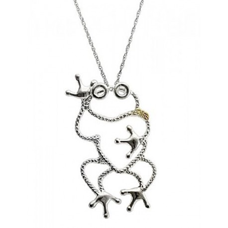 Landstrom's® Black Hills Gold on Sterling Silver Frog Pendant