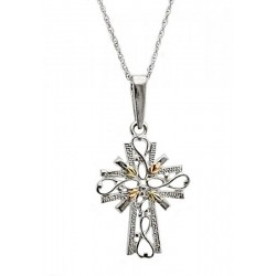Landstrom's® Black Hills Gold on Sterling Silver Cross Pendant