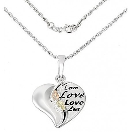 Landstrom's® Black Hills Gold on Sterling Silver Heart Pendant