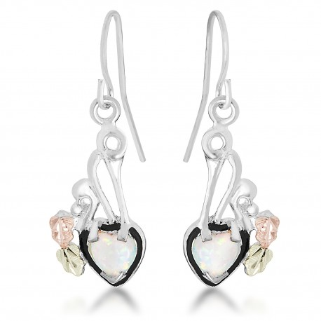 Landstrom's® 12k Black Hills Gold Leaves on Sterling Silver Earrings