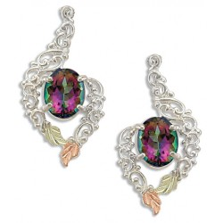 Landstrom's® Black Hills Gold on Sterling Silver Mystic Fire Topaz Earrings