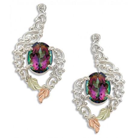 Landstrom's® Black Hills Gold on Sterling Silver Mystic Fire Topaz Earrings
