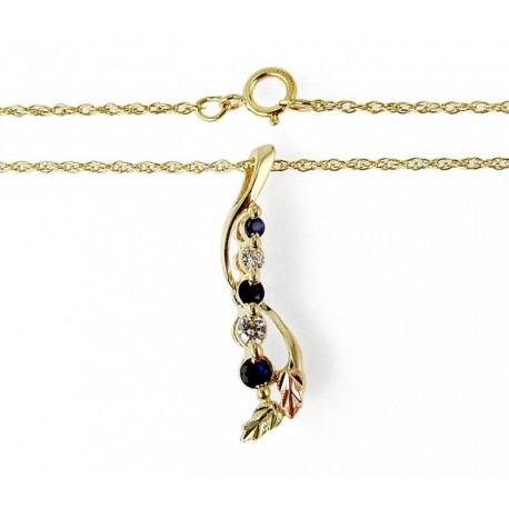 Landstrom's® 10K Black Hills Gold CZ and Sapphire Pendant