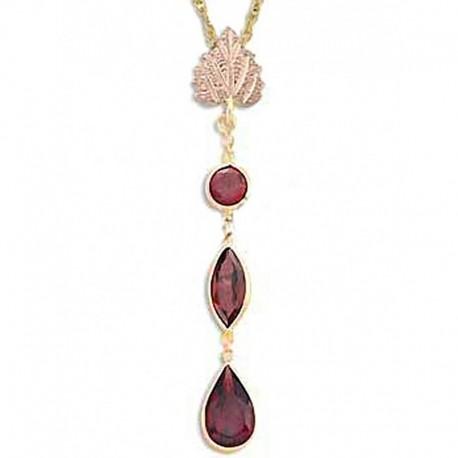 Landstrom's® 10K Black Hills Gold Garnet Pendant