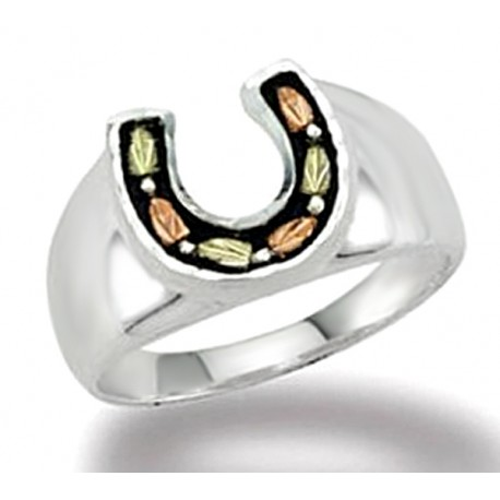 BHG SILVER LADIES HORSESHOE RING