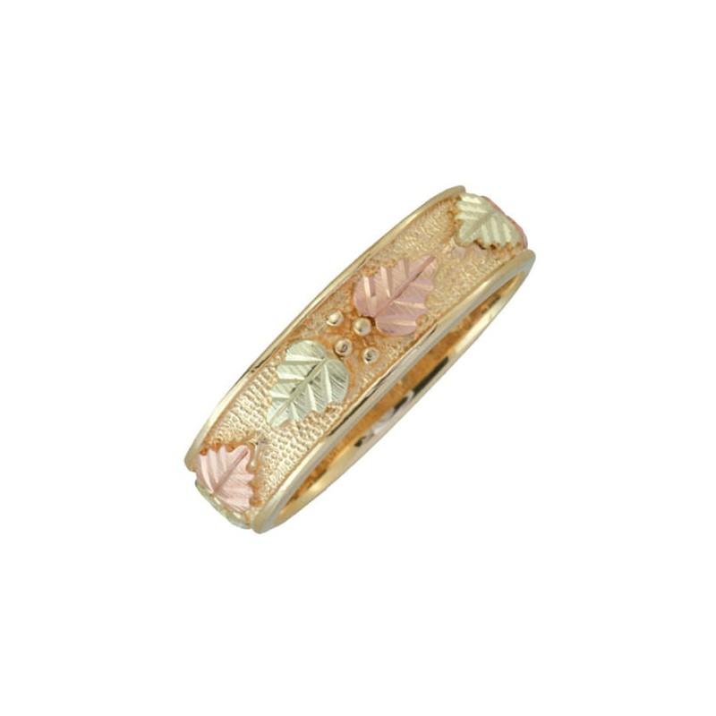 10k Black Hills Gold Mens Wedding Ring