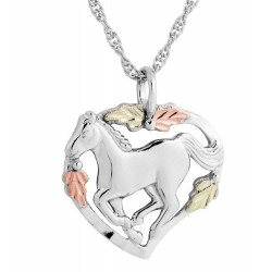 Black Hills Gold Sterling Silver Horse Necklace