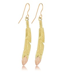 Landstrom's® 10K Black Hills Gold Feather Earrings
