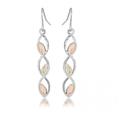 Landstrom's® Stylish Black Hills Gold on Sterling Silver Dangle Earrings