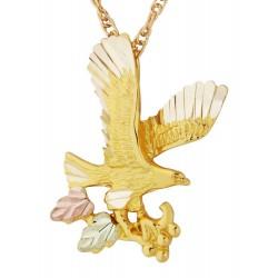 Mt Rushmore 10K Black Hills Gold Eagle Pendant