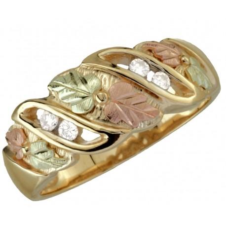 Black Hills Gold Ladies Diamond Ring by Coleman
