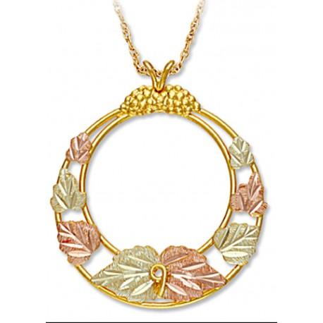 Landstrom's® 10K Black Hills Gold Circle Pendant