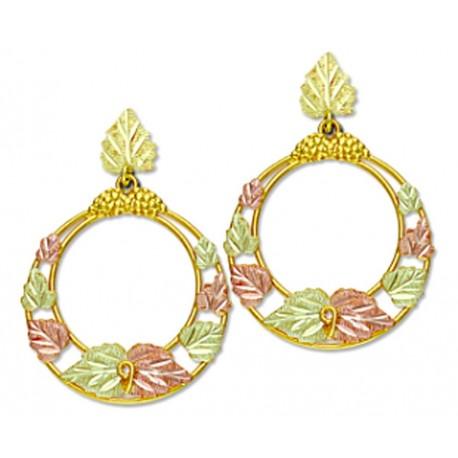 Landstrom's® 10K Black Hills Gold Circle Dangle Earrings