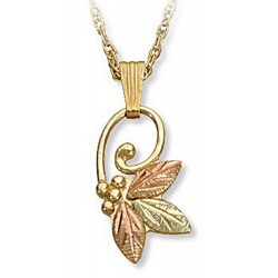 Landstrom's® 10K Black Hills Gold Small Butterfly Pendant