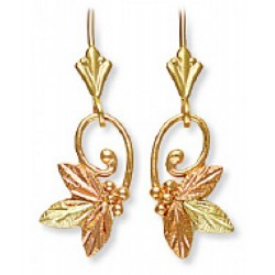 Landstrom's® 10K Black Hills Gold Butterfly Leverback Earrings