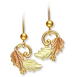 Landstrom's® 10K Black Hills Gold Leaves Earrings with Grape Accent